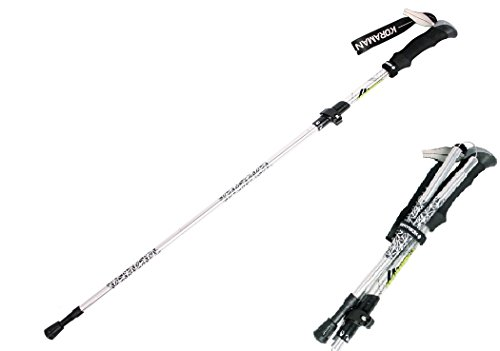 KORAMAN Folding Hiking Walking Trekking Pole Ultralight Adjustable Alpenstocks (12.9