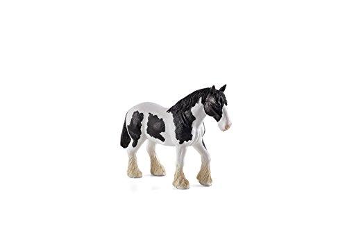 Mojo Fun 387085 Clydesdale Horse Black and White - Realistic Farm / Ranch / Equestrian Model Horse Toy Replica (Farm Horse White)
