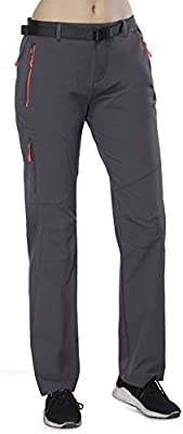 b548c92b539ed MIER Women's Water Resistant Outdoor Cargo Pants Lightweight Breathable Hiking  Pants, Quick Drying & Stretch