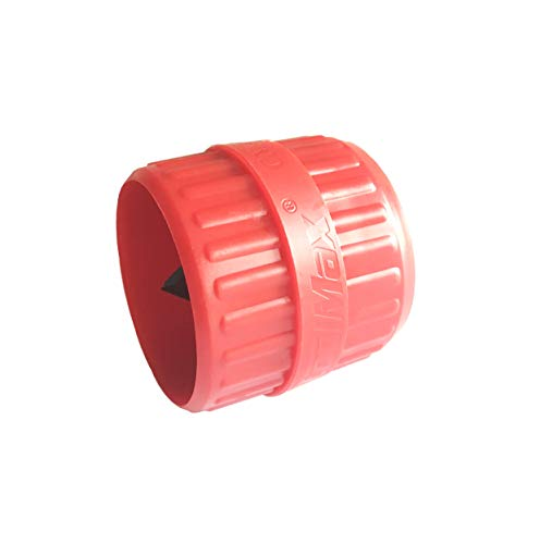 Pipe Pvc Red (GooM Inner-Outer Reamer,5/16-inch to 1-1/2-inch(5mm-35mm) Pipe Reamer,Burr Remover for PVC Tubing,Tubing Chamfer Tool,PVC Pipe Deburring Tool,Red)