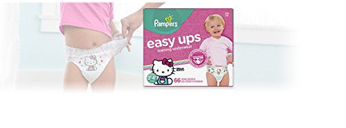 Pampers Easy Ups Pull On Disposable Training Diaper for Girls Size 5 (3T-4T) 66 Count, Super Pack by Pampers (Image #2)