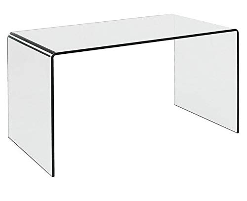 Hogar Decora Mesa Escritorio Cristal Templado Curvado 126 x 70 cm ...