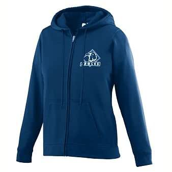 Ladies Wicking Fleece Full Zip Sweatshirt - NAVY - MEDIUM