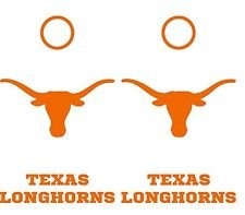 Texas Longhorns Large Cornhole Decals - 6 Cornhole Decals - 2 Free Window Decals (All White) ()