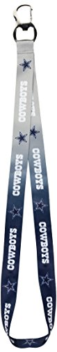 Pro Specialties Group NFL Dallas Cowboys Ombre Lanyard, Silver/Navy, Onse Size ()