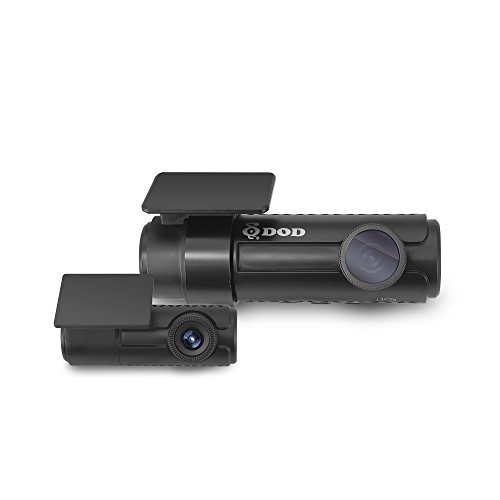 DOD TECH RC500S 2-Channel 1080P HD Front & Rear Dash Cam with Sony EXMOR Sensor, Built-in Wi-Fi, Super Night Vision, Red-light / Speed Camera Alert, CPL Filter, 128GB SD Card, Black (Red Digital Cam)