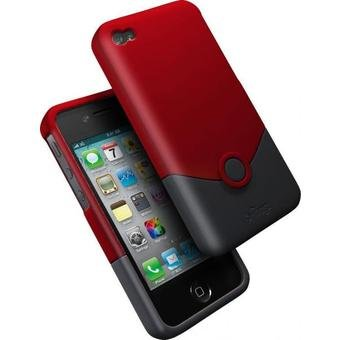 IFROGZ Luxe Case -Coque iPhone 4/4S - Red/Black ¬