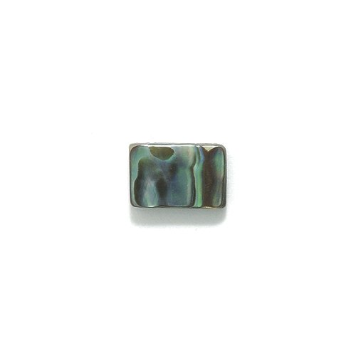 Abalone Iris (Shipwreck Abalone Rectangle Bead, 8 by 12-mm, 33-Piece/Pack)