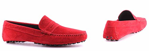 JUST IT Les Red 305 CAVALLI Chaussures Snake Rouge Print Mocassins S12WR0039 Homme Rouges qwq1H
