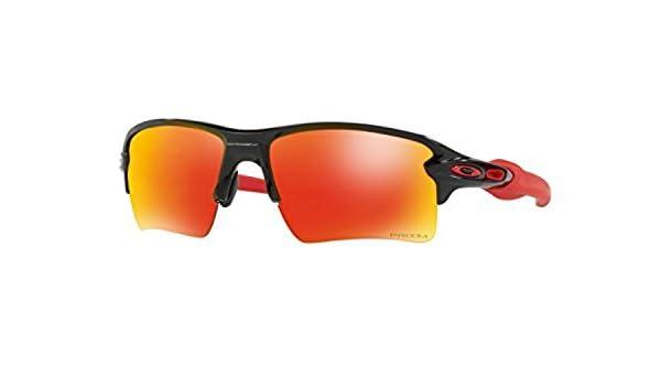 768715710c7 Amazon.com  Oakley Flak 2.0 XL Sunglasses Polished Black Prizm Ruby    Cleaning Kit Bundle  Clothing