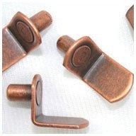 WIDGETCO 1/4'' Antique Bronze''L'' Shelf Pins by WIDGETCO