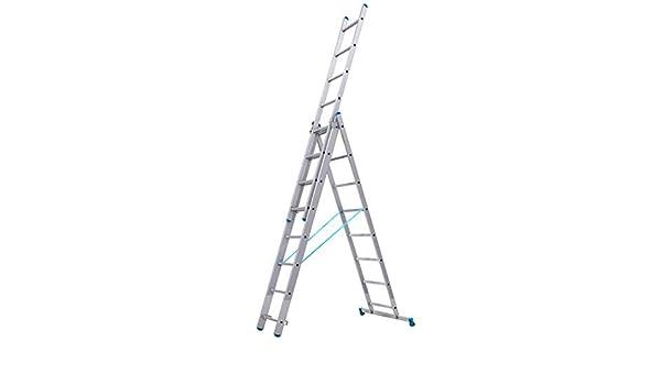 Tubesca – Escalera transformable 3 tramos 8 + 8 + 8 Peldaños haut. punto de Max 5,97 M – Starline S +: Amazon.es: Bricolaje y herramientas