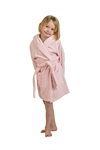 Superior Collection 100% Premium Long-Staple Combed Cotton Hooded Terry Bath Robe for (Cotton Genuine Belt)