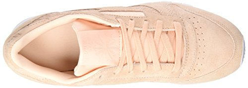 Desert Women's Emb Running White Dust Reebok 0 Pink Lthr Pink Woven Cl Shoes OdqxwzHU