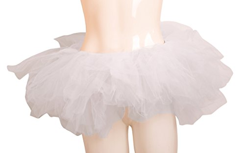ELLITE Women's Multilayer Organza Tutu Party Dress Tulle Pettiskirt White