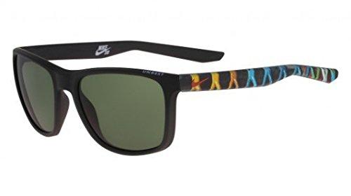 Nike Sonnenbrille (UNREST EV0922 SE) MATTE BLACK/CINNIBAR WITH GREEN LENS