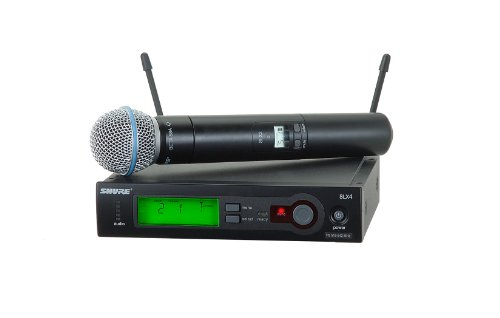 Beta58 Wireless Handheld Transmitter Microphone - Shure SLX24/BETA58 Wireless Vocal System with Beta 58A Handheld Microphone, G5