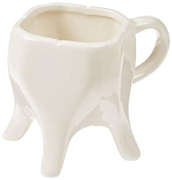Molar Mug - Novelty Ceramic Coffee Mug For Dentists, Science Teachers - 8 oz, Dishwasher Safe!