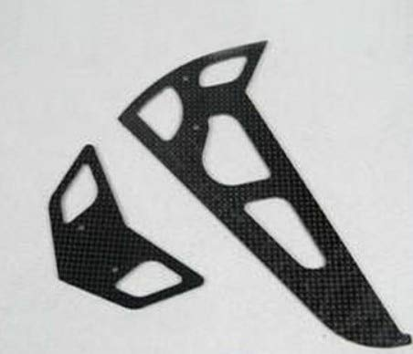 Kamas Tarot TL6058 Carbon Fiber Horizontal Vertical Stabilizer Set Tail Fin for Align TREX 600 Nitro Electric RC Heli