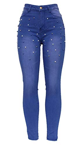 Size 980 Knee Barfly Ladies Slim High Tube Denim Cut Jean Womens Ripped 20 Fit Waisted Stretchy Pencil White Distresses New 6 Skinny Blue Blue Black Fashion Rv6qv4