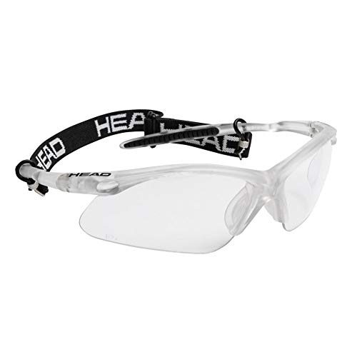 HEAD Icon Pro Racquetball Eyewear, Clear/Black