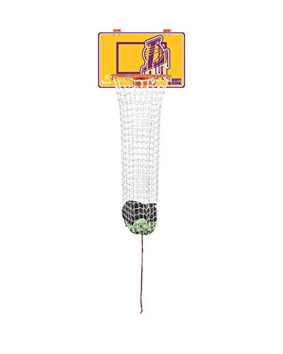 The Dunk Collection Dirty Dunk Over-The-Door Basketball Hoop Laundry Hamper, Los Angeles Lakers, NBA