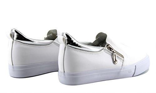Mujer Zapatillas Elastico BLANCO Cremallera Modelisa wUSq6n