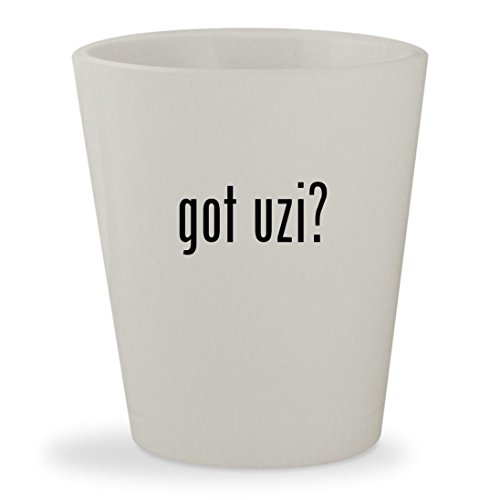 Uzi Co2 Airsoft (got uzi? - White Ceramic 1.5oz Shot Glass)