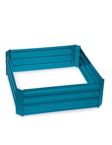 Gardener's Supply Company Demeter Corrugated Metal Raised Bed, 34'' x 34'' Blue by Gardener's Supply Company