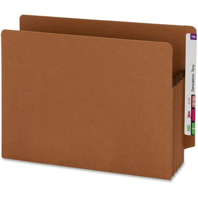SMD73610 - Smead 73610 Redrope 100% Recycled End Tab Extra Wide Pocket