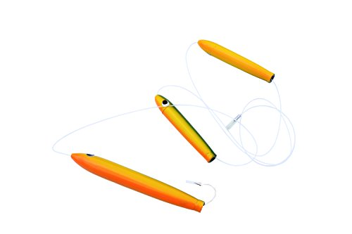 Eat My Tackle Offshore fishing lure tuna stick daisy chain rigged green yellow orange