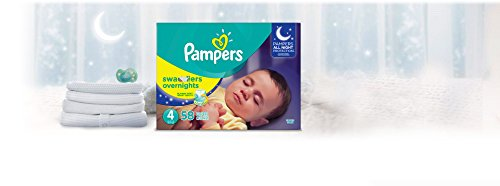 Diapers Size 4, 58 Count - Pampers Swaddlers Overnights Disposable Baby Diapers, Super Pack