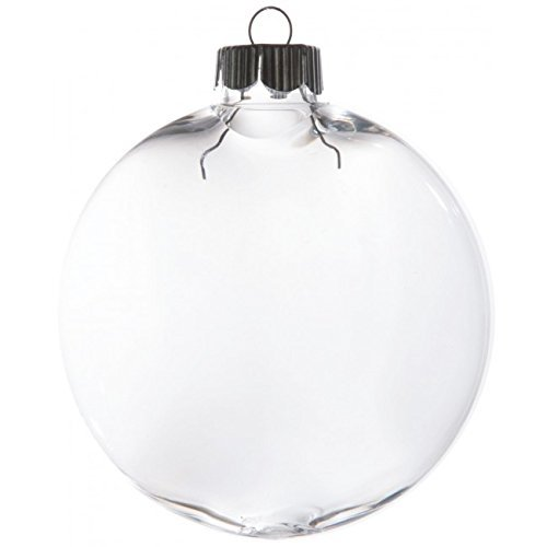 Christmas Decoration Shatterproof PET Christmas Ornament - Clear 80mm - Pack of 6