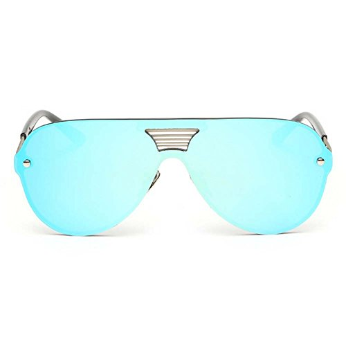 LOMOL Fashion Trendy Metal Frame Reflective Lens UV Protection Personality - Coupon Destination Frame