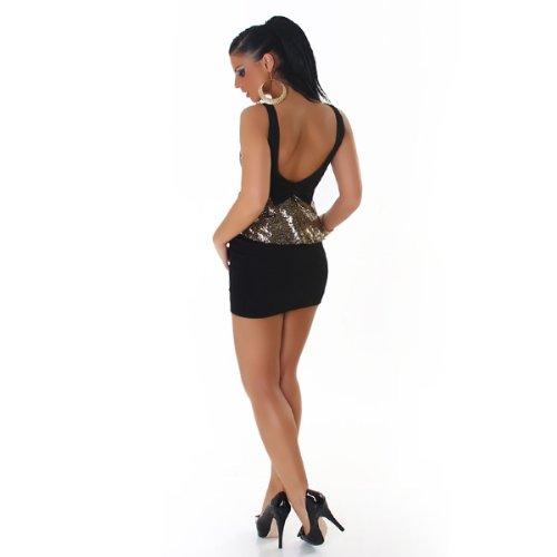 JELA London - Vestido - Sin mangas - para mujer Gold Black