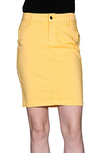 Kanope - Jupe taille haute-Catia color-Femme Banane