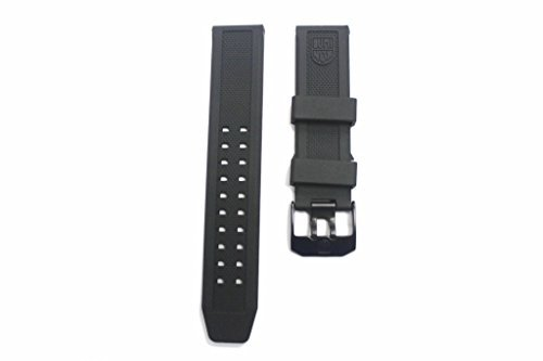 LUMINOX Replacement Rubber Watch Band Strap with PVD Black Buckle EVO Navy SEAL Colormark 3050 3950 - Bracelet Link Luminox