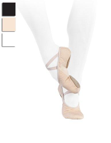 Split Sole Canvas Ballet Shoes Wide Fit 42 Rosa