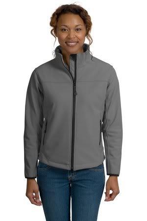 Port Authority Ladies Glacier Soft Shell Jacket, Smoke Grey/Chrome, 3XL