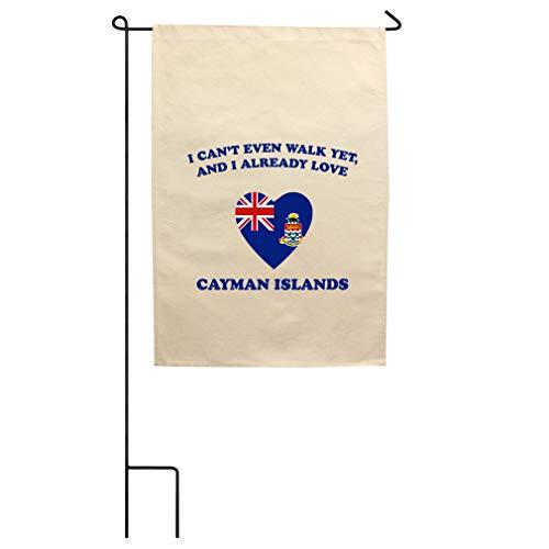 Style In Print Can't Walk Already Love Cayman Islands Cotton Canvas Yard House Garden Flag Flag Flag & Pole ()