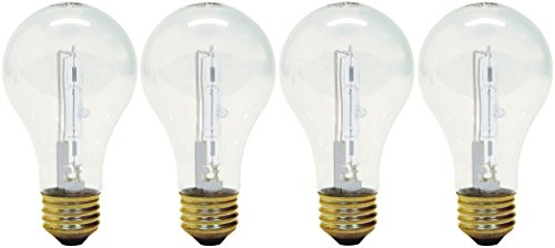 GE Lighting 78798 Crystal Clear 72-Watt, (100-watt replacement) 1490-Lumen A19 Light Bulb with Medium Base, 4-Pack (Base Medium A19 Lights)