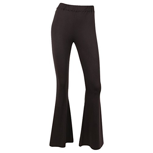 SIONI Women's 'Micro Lux' Bell Bottom (Flare Bottom Pants)