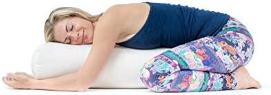 Lotuscrafts Bolster Yoga Rectangular para Yin Yoga - Relleno de Kapok - Cubierta en Algodon Lavable - Cojin Yoga Restaurativo - Bolster Yoga Kapok - ...
