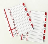 Amazon.com: Concord England 10 Part Divider Red/White ...