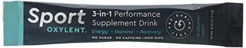 Sport Oxylent, 3-in-1 Performance Supplement Drink, Blueberry Burst, 15 Packet Box