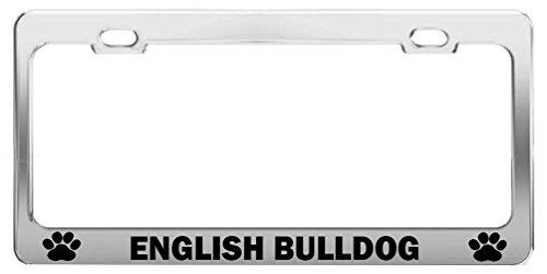 ENGLISH BULLDOG Auto Exterior Accessories Dog Cat Breed License Plate Cover