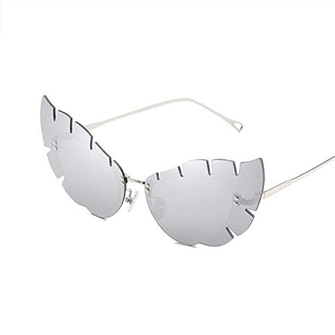 Donna Hd Sole Metallo Occhiali Irregolare Viaggio Da Forma Hoqtum Signora Anti-glare Anti-uov Uomini Di Foglia Parasole