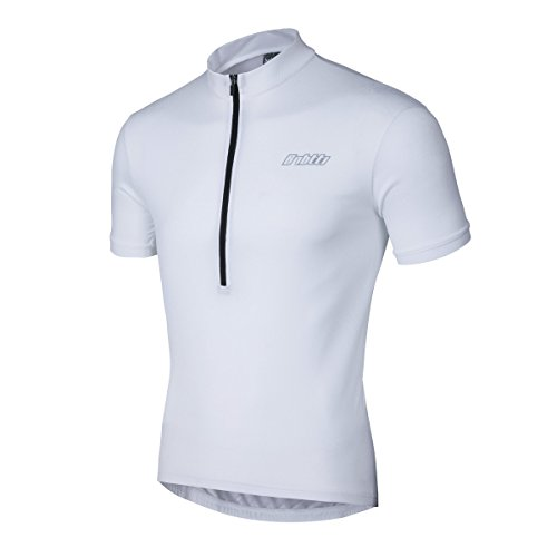White Short Sleeve Cycling Jersey (Bpbtti Men's Short Sleeve Cycling Jersey(Chest 40-42