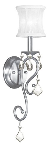 Brushed Nickel Newcastle 1 Light Wallchiere Sconce