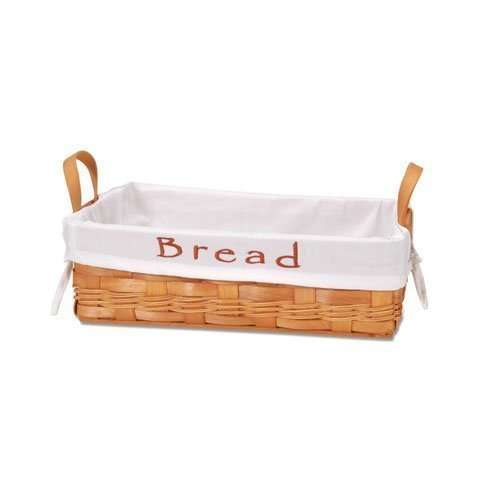 Bread Basket with Embroidered Removable Cloth Lining